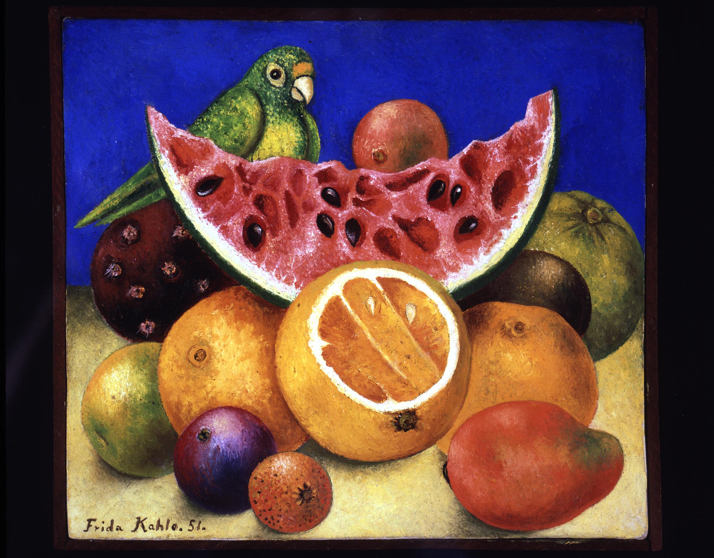 25 - Frida Kahlo - natura morta con pappagallo