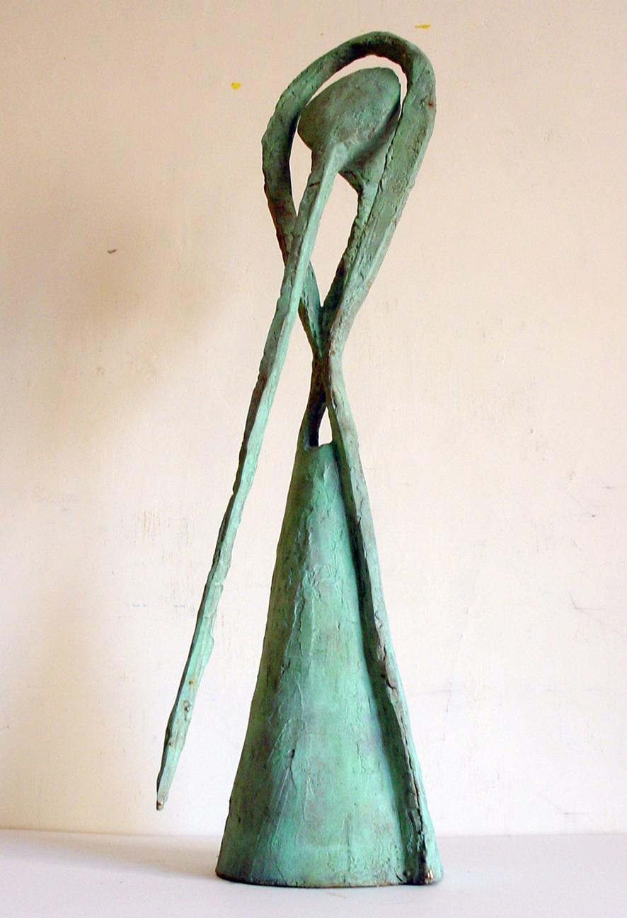 Tommaso Cascella, Dal dolce narcotico, 2000, bronzo, cm 46x25x98h