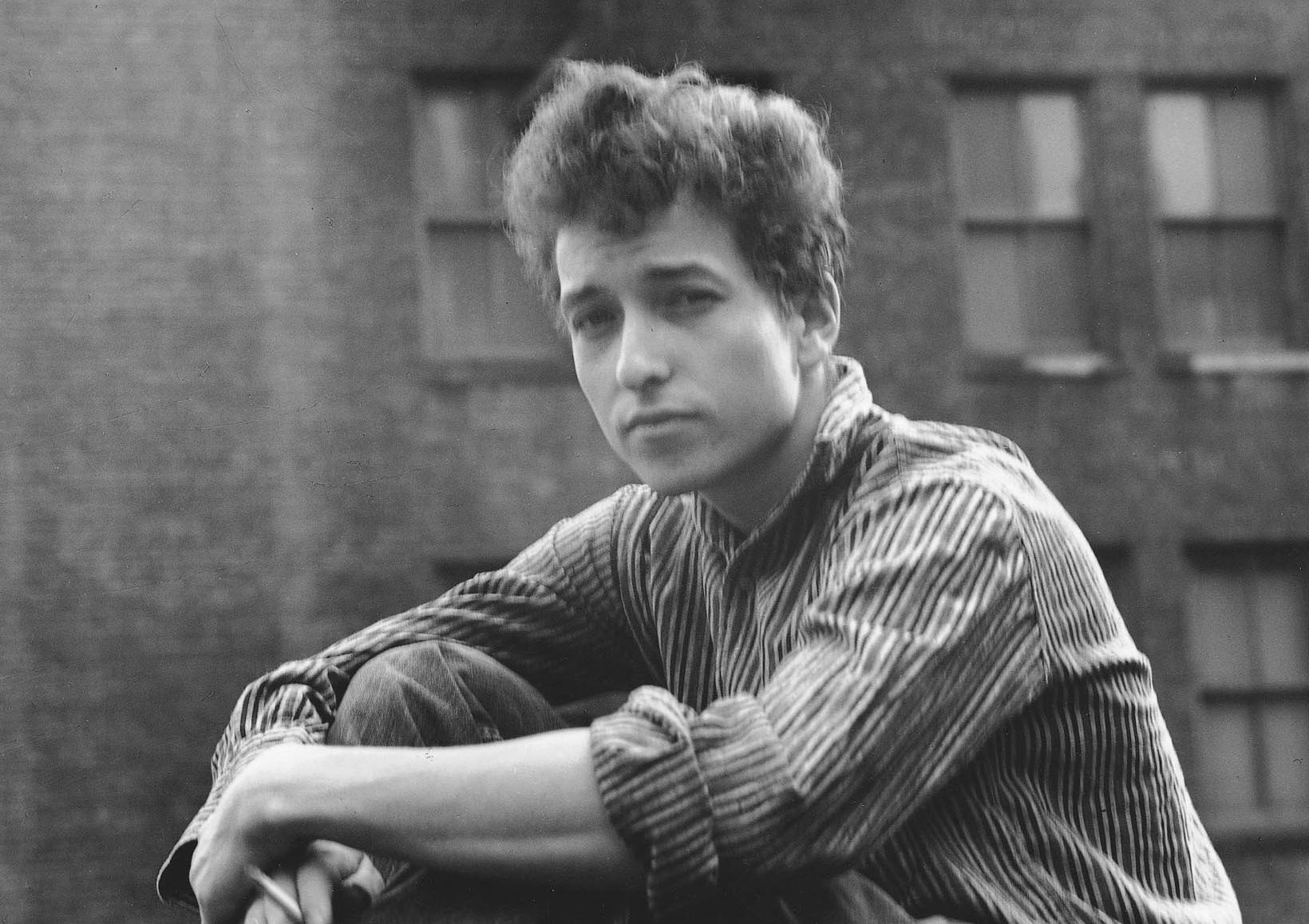"""An early but undated publicity photo of  Bob Dylan in New York City from his autobiography, """"Chronicles Volume One."""" (AP Photo/Simon & Schuster)"""