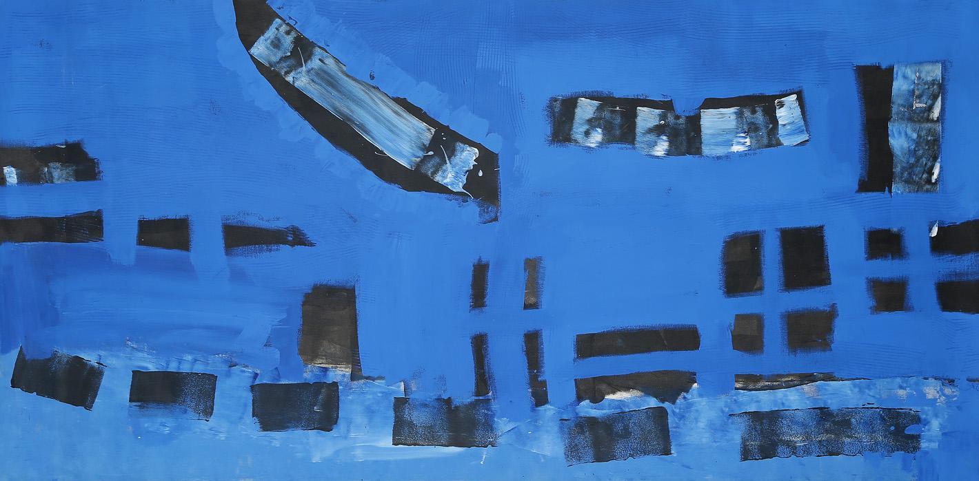 Cèu -cielo acrilico 2014 206x102 cm - proprietà dell'artista