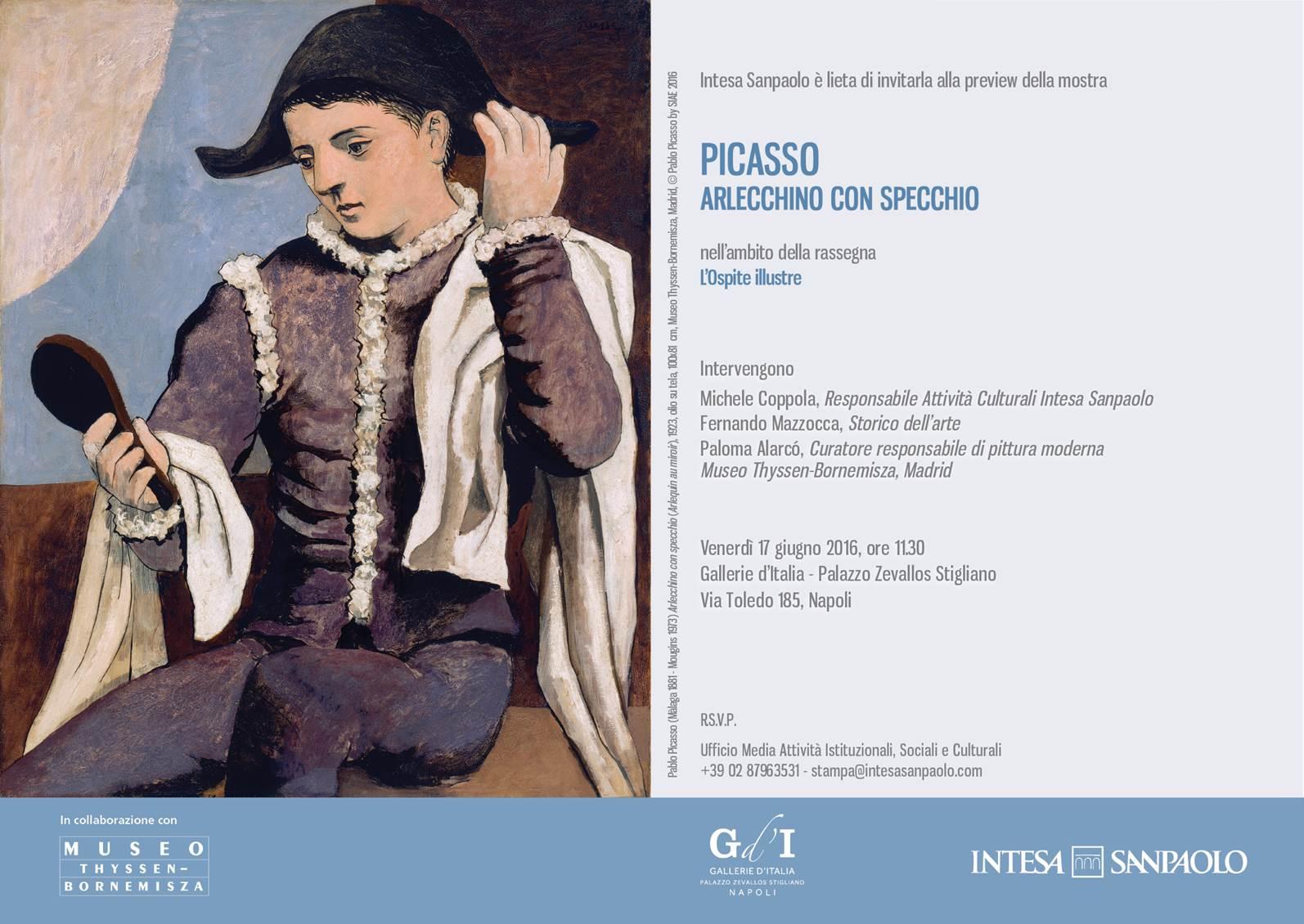 Picasso Arlecchino Con Specchio Arlequin Au Miroir Eventi